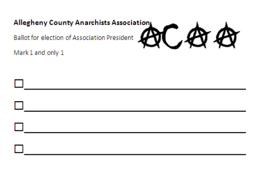 Anarchists Ballot